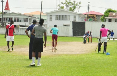 Guyana training at DCC yesterday.