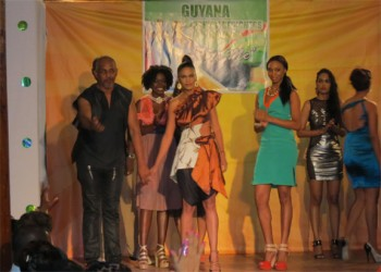 Contemporary fashion pieces at the Guyana Fashion Design Council launch
