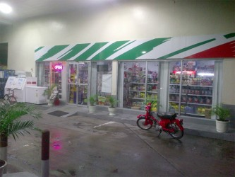 The mini mart of the Rubis Gas Station on Vlissengen Road