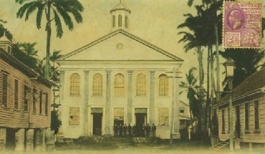 The Congregational Church and schools in New Amsterdam