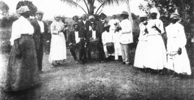 A Yoruba dance ring in British Guiana