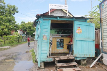 The Emancipation Hut. The building was known as the pay office during apprenticeship. (Arian Browne photo)