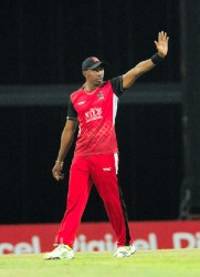 STOP! Dwayne Bravo would like the Trinidad Red Steel team to stop embarrassing its fans. (photo courtesy CPLT20 website)