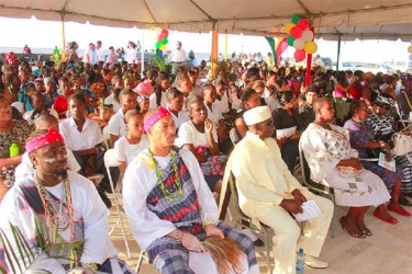 Part of the gathering at the event