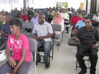 Some of those who were present at the meeting on the petition