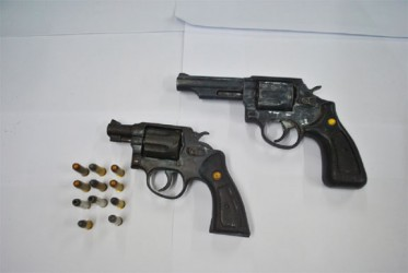 The guns retrieved (Police photo)