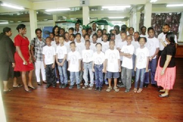 Students who participated in the Guyana National Museum's Taxidermy camp (GINA photo)
