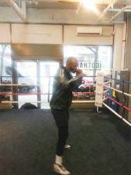 Lennox '2 Sharpe' in training recently at the Trinity Gym in New York.