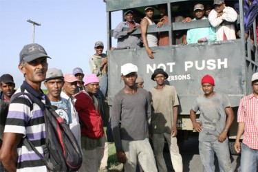 Skedlon harvesters were annoyed that their pay was being negotiated without their consent and that GAWU representatives and GuySuCo representatives were still negotiating when incentive pay would be handed out.