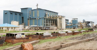 The Skeldon factory was relatively quiet last Thursday because grinding has yet to start at the US$200 million factory.