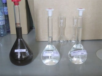 The stages and the by-products produced at the plant after going through the fermentation, distillation and dehydration process.