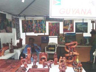 Wood craft on display