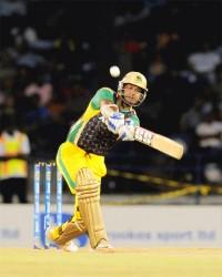 Kumar Sangakkara held the Jamaica Tallawahs knock together with an unbeaten innings of 50. (Photo courtesy of LCPLT20.com website)