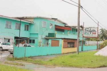 The Safari Inn, where the body of Victor Ramsabad, called 'Tun-Tun,' was found on Tuesday.