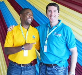 WICB president Whycliffe Dave Cameron and Kieran Foley.