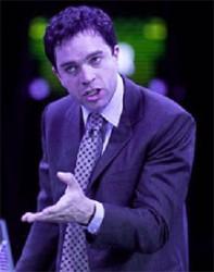 Hadley Fraser starring as Garry Kasparov in  the play The Machine