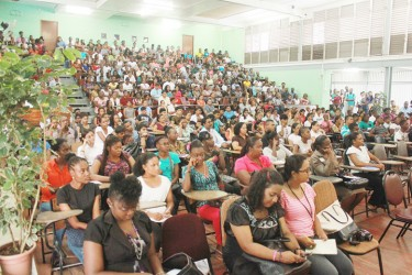 Part of the audience at Friday's ceremonial opening for the University of Guyana's academic year 2013/2014 of the Turkeyen Campus.