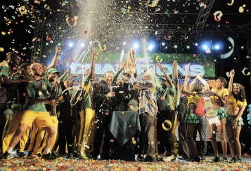The Jamaica Tallawahs celebrate after their CPL victory (Photo courtesy of the CPL website)