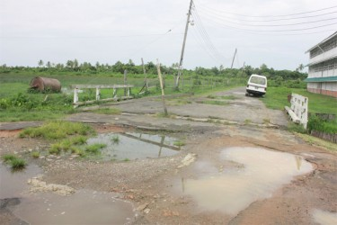The state of one of the roads in President's College