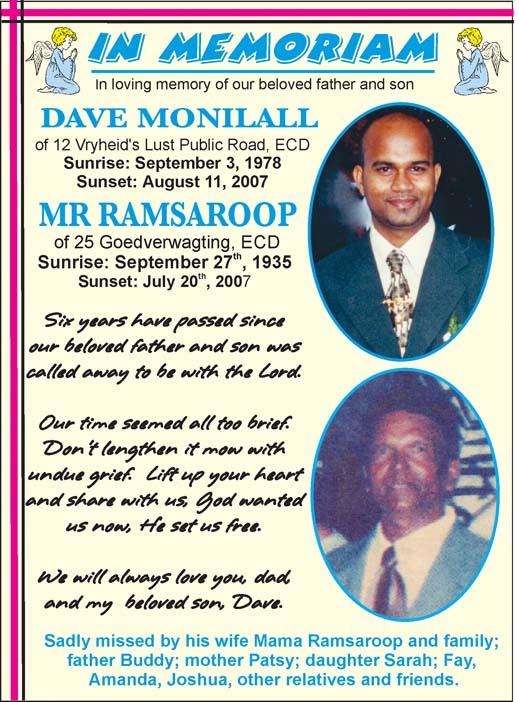 Dave Monilall & Mr Ramsaroop
