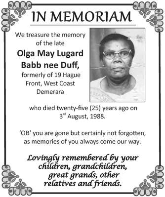 Olga Babb nee Duff