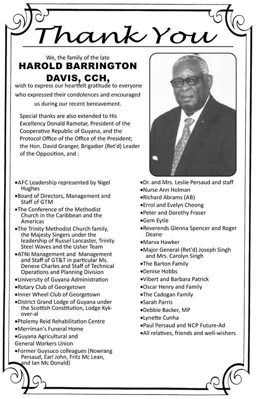 Harold Davis, CCH