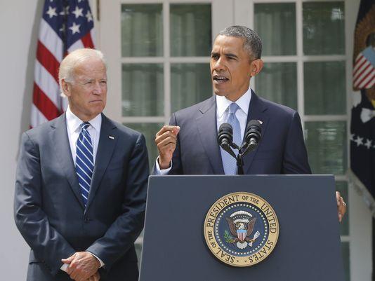 President Barack Obama speaking today.