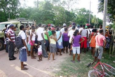 Kwakwani residents at Tuesday's meeting
