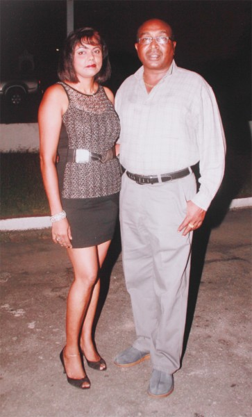 Colin Bailey with Sirmattie Ramnaress, with whom he says he had an ongoing relationship for two decades