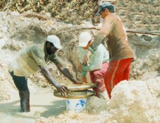 Interior mining operation