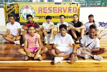 The members of Guyana's junior badminton team which will participate in the CAREBACO junior championships in Puerto Rico.