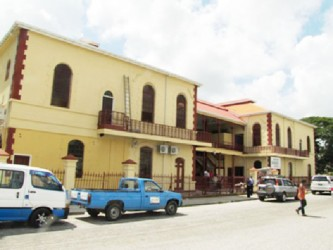 The refurbished Georgetown Magistrates' Court complex will house 12 courts when it is put back into use. (Government Information Agency photo)