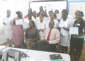 The final batch of GPH staff members who completed a customer service training programme yesterday