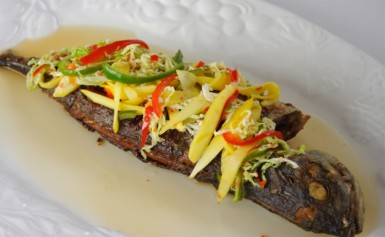 Fried Fish with Pickled Vegetables (Photo by Cynthia Nelson)
