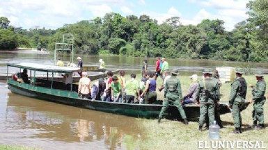 Part of the group of Venezuelans who came on the mission to Essequibo (El Universal/Handout photo)
