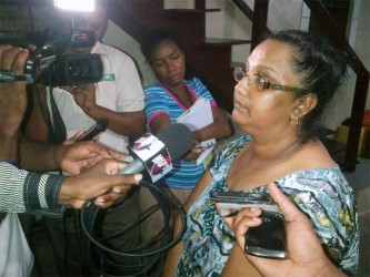 Babita Naraine speaks to reporters just hours after the ordeal last evening