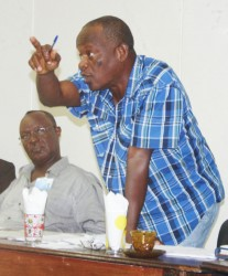 Charles Sampson makes a point during last Thursday's Region Ten Democratic Council statutory meeting