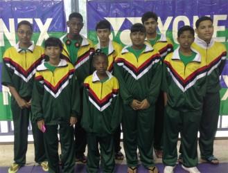 The Guyana junior badminton team.