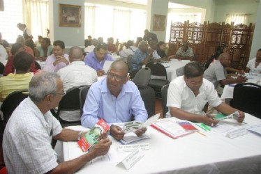 Participants at the monitoring and evaluation forum at Duke Lodge, Kingston (GINA photo)