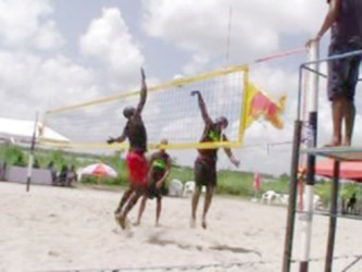 Part of the action in the Men's final