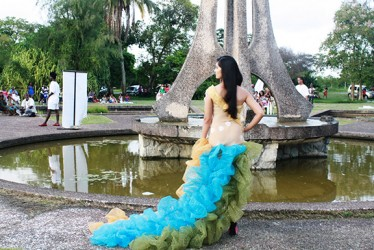 A model at last Sunday's event