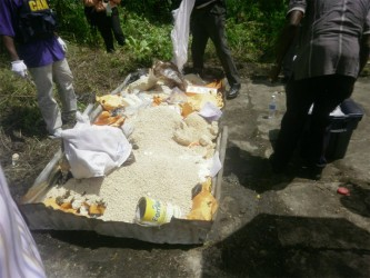 Some of the almost $3B in cocaine and marijuana destroyed by CANU yesterday.