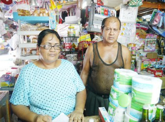 Sham Umrigar and his wife in their shop