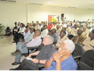 A section of the gathering at the launch (GINA photo)