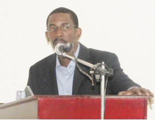 Reverend Dr Kwame Gilbert, Social Policy Advisor speaking at the launch (GINA photo)