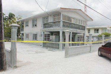 The house at Kastev Housing Scheme, Meten-Meer-Zorg where the robbery was to have taken place. Police received information about the plan beforehand and staked out the area. (Photo by Arian Browne)