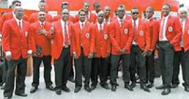 The Trinidad and Tobago squad for the Champions League T20 2013 (picture courtesy Guardian)