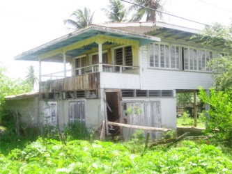 Abandoned house where Ravindranauth Chang was found (David Papannah photo)