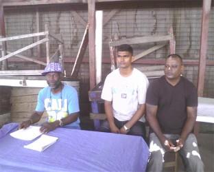 Kitty Market Action Committee Members (from left) Tacuma Ogunseye, Chandrashekar Persaud and Mohamed Ameer Saleem