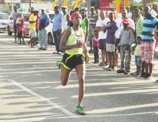 Euleen Josiah Tanner - Neal and Massy female 10k road race winner.jpf